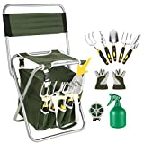 Meditool 10 Piece Garden Seat Tool Set Kit with Zippered Detachable Storage Tote Bag