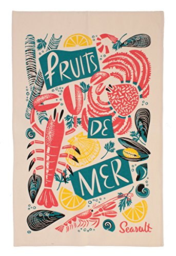Ulster Weavers Seasalt Fruits De Mer Cotton Tea Towel by Ulster Weavers