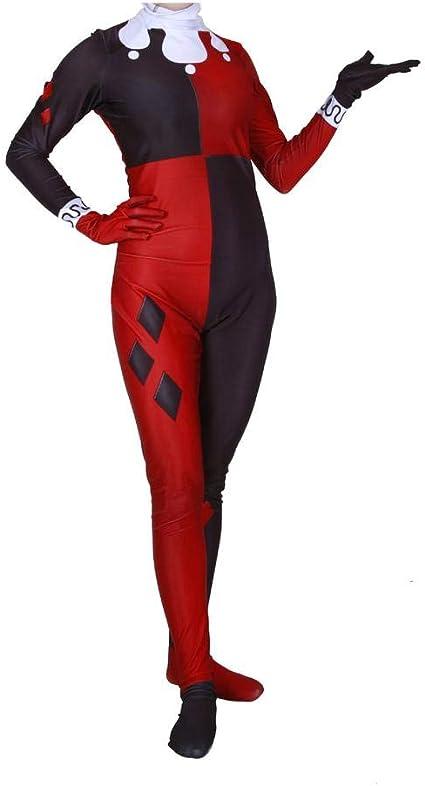 KLEIDEE Cosplay Ropa Payaso Mujer Harry Quinn Cosplay Overwatch ...