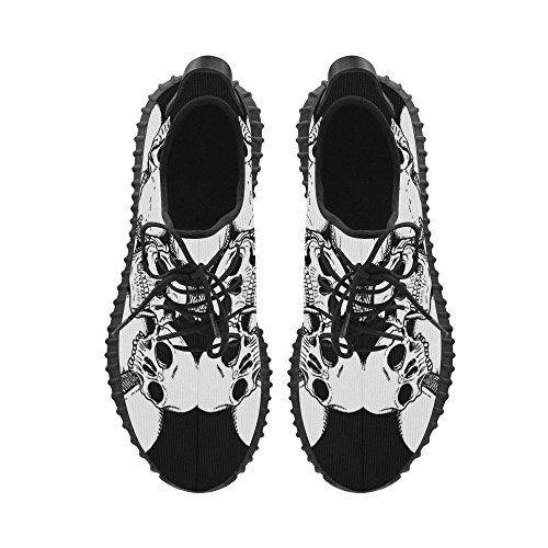 Boost Boost Woven Cool Mens Sneakers Skull Breatheable Print Story Shoes Running Bounce Energy Shoes D Grus Mens w48FqYCOwc