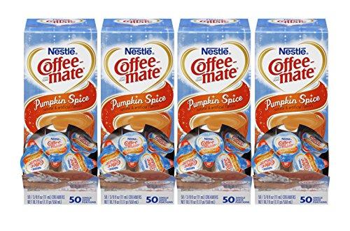 Nestle Coffee-mate Coffee Creamer, Pumpkin Spice Liquid Creamer Singles, 50 count, Pack of 4 (Coffee Mate Pumpkin Spice compare prices)