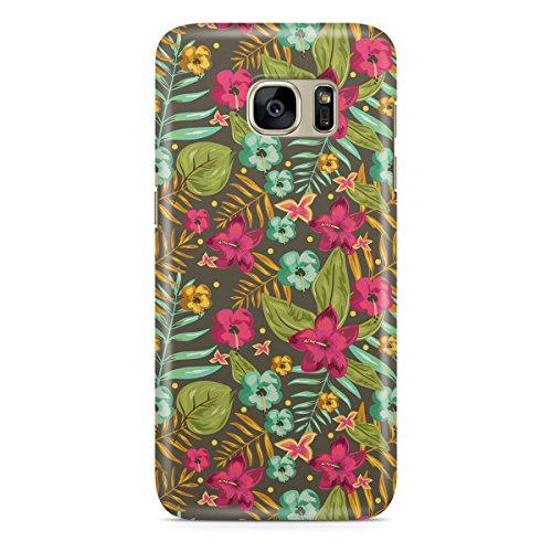 Phone Case For Apple iPhone 6 Plus - Retro Hawaii Blooms Premium Wrap-Around
