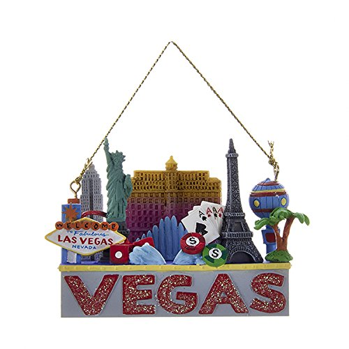 Las Vegas Travel Destination Christmas Holiday Ornament by Kurt Adler