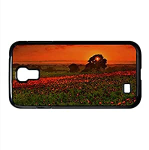 lintao diy Beautiful Summer Landscape Watercolor style Cover Samsung Galaxy S4 I9500 Case (Summer Watercolor style Cover Samsung Galaxy S4 I9500 Case)