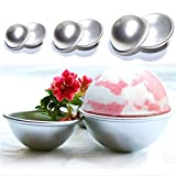 3 Sets DIY Fizzy Bath Bomb Molds Soap Making Kit Soap Moulds Perfectly Round, Make Your Own Lush & Fizzy Bath Balls. Reusable, Durable, Rust Resistant