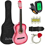 Best Choice Products New Beginners Acoustic Guitar with Guitar Case, Strap, Tuner and Pick Pink