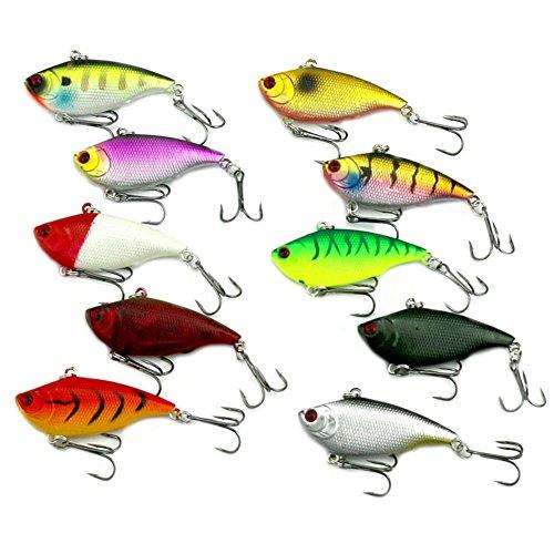 Diving VIBE Fishing Lures Bait Lipless Swimbait Crankbait 10g/6cm ()