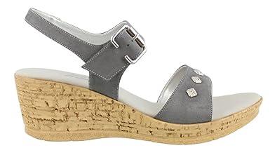 Onex Women's, Ivette Mid Heel Sandals Pewter ...