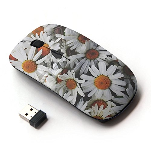 Vintage Mouse - KawaiiMouse [ Optical 2.4G Wireless Mouse ] Daisies Flowers Sun Field Vintage