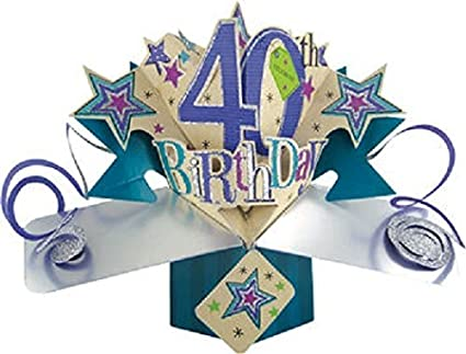 3D Pop Up 40th Birthday Card Amazoncouk Kitchen Home