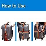 WESTONETEK Adjustable Luggage Strap Long Cross