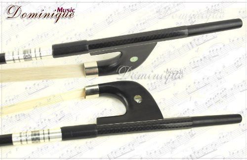 Top D Z Strad #2602 Bass Bow Carbon Fiber Braided German Type 3/4