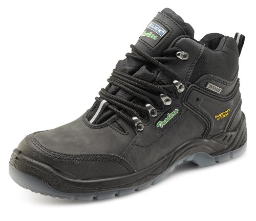 Click Workwear Mens Anti Slip Leather Hiker Safety Work Boot - Size 12
