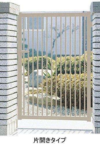 三協アルミ 形材門扉末広2型 0412 片開き門柱タイプ ブロンズ B00ALSD0BW 22860 本体カラー:ブロンズ 本体カラー:ブロンズ