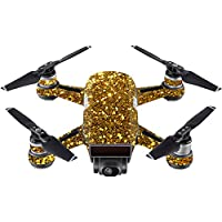 Skin For DJI Spark Mini – Gold Dazzle | MightySkins Protective, Durable, and Unique Vinyl Decal wrap cover | Easy To Apply, Remove, and Change Styles | Made in the USA