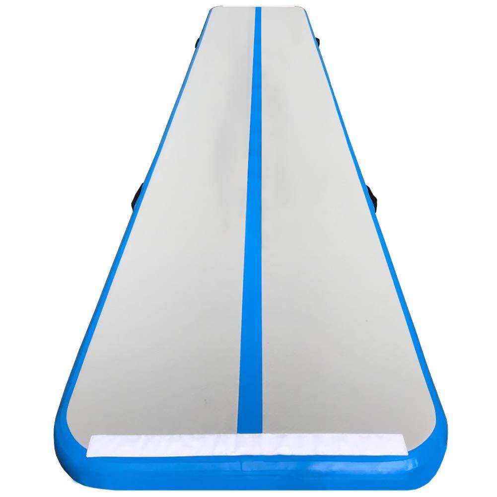 86 YORKインフレータブル体操タンブルエアトラックマットAir床for Kids/練習/トレーニング/ホーム/Park 13 /16 /19ft長 B07CYLVG8K ダークブルー 13.1'x3.3'x0.33'