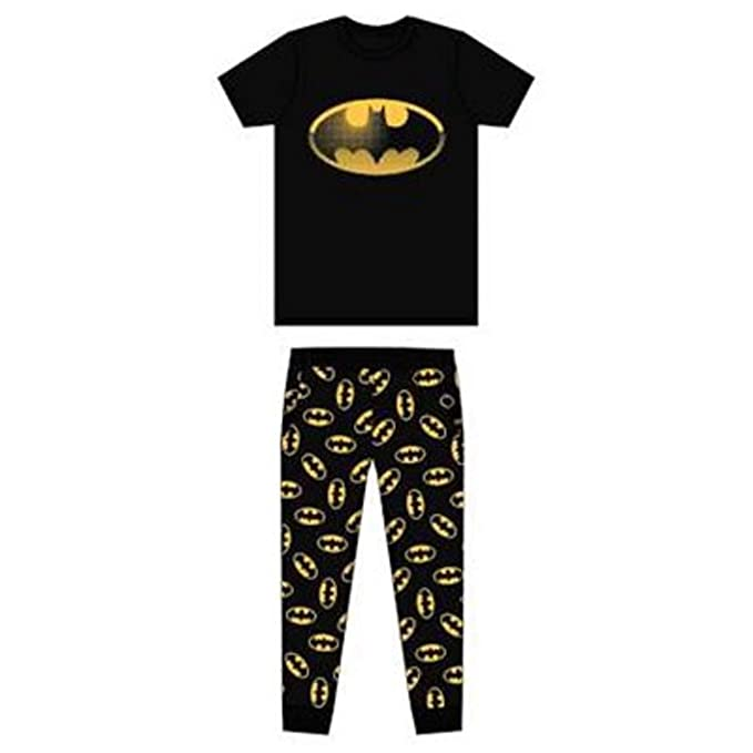 DC, BATMAN - Pijama - para Hombre Negro Negro (Small