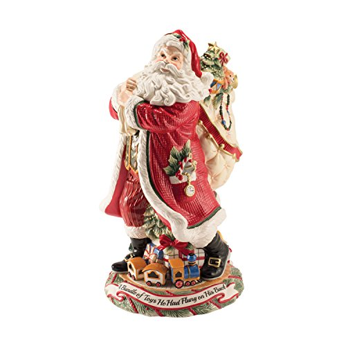 Fitz Vase - Fitz and Floyd Night Before Christmas Collection Santa Figurine Vase