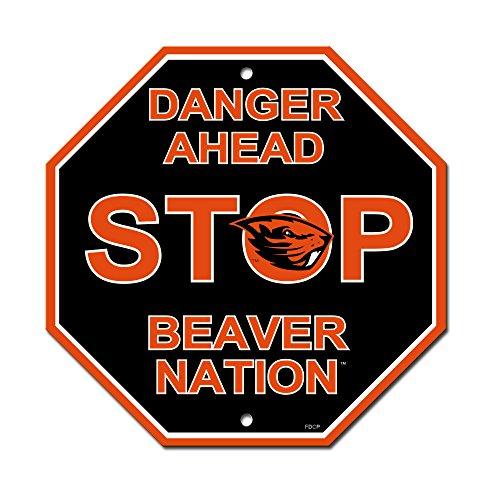 (NCAA Oregon State Beavers Stop Sign,)