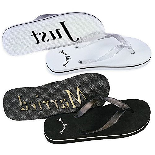 Just Married flip Flops for Bride and Groom