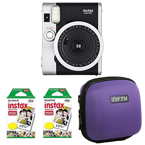 Nifty M9BK4090 Fuji Instax Mini 90 Neo Classic Camera Kit Instax Film with Nifty Mini Case (Black) by NIFTY
