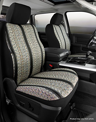 Fia TR47-34 BLACK Custom Fit Front Seat Cover Bucket Seats - Saddle Blanket, (Black)