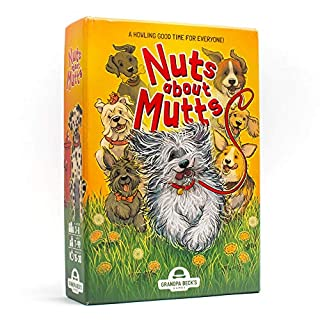 Grandpa Beck's Nuts About Mutts Card Game - A Fun Family-Friendly Hand-Elimination Game - Enjoyed by Kids, Teens, and Adults - from The Creators of Cover Your Assets - Ideal for 3-8 Players Ages 7+