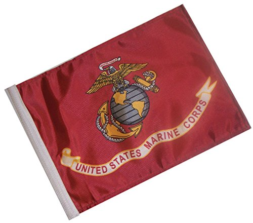 SSP Flags Licensed U.S. Marine Corps Motorcycle Flag - Small 6 x 9 inch 2 Ply Flag -