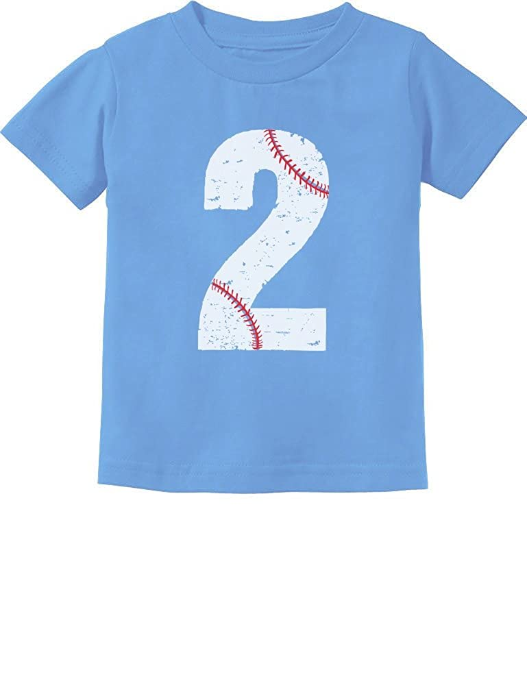 TeeStars - Baseball 2nd Birthday Gift for Two Year Old Toddler Kids T-Shirt GtPhhl3gm5