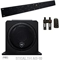 Wet Sounds Package - Black Stealth 10 Ultra HD Sound Bar w/ Remote and AS-10 10 500 Watt Powered Stealth Subwoofer