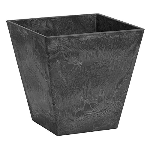 Novelty 35188 Square Ella Planter, Black, 18-Inch ()