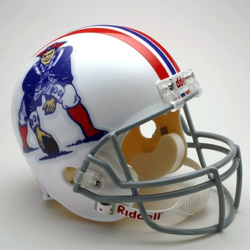 NFL Riddell New England Patriots White 1965-1981 Throwback Replica Full-Size Helmet by Riddell