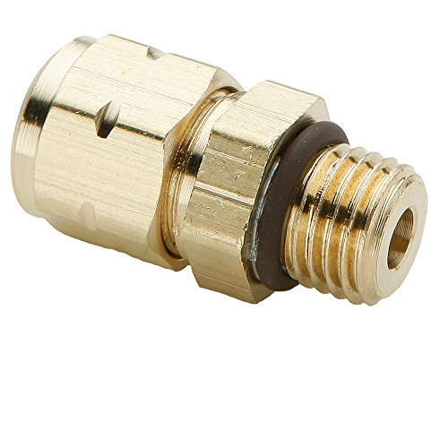 (Parker 685VLV-6-6-pk10 Vibra Lok Compression Style Fitting, Tube to Straight Thread, Compression Connector, 3/8
