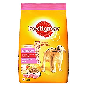 Pedigree Puppy Dry Dog Food, Chicken and Milk, 1.2kg Pack