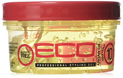 ECOCO Moroccan Argan Oil Styling Gel, 8 Fluid Ounce (Best Eco Styler Gel For Edges)