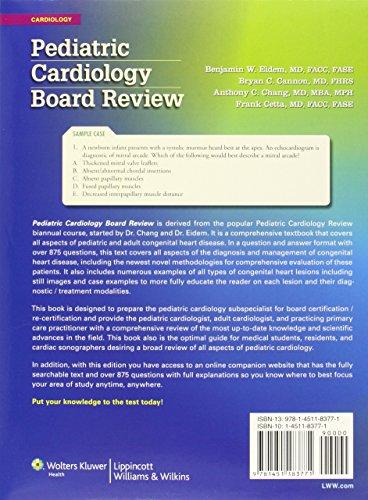 Pediatric Cardiology Board Review - http://medicalbooks.filipinodoctors.org