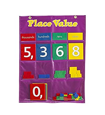 Amazon com learning advantage 7432 place value pocket chart grade