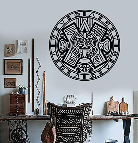 Vinyl Wall Decal Aztec Mayan Ancient Calendar Amulet Stickers 1448