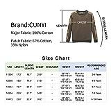 CUNYI Boys' Camo Crewneck Cotton Sweatshirt