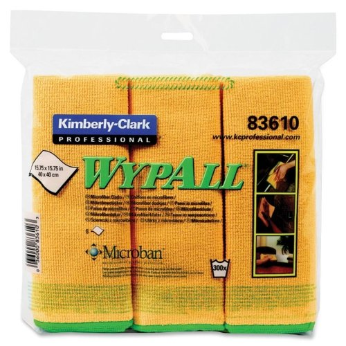 83610 Wypall Cloths - Wholesale CASE of 10 - Kimberly-Clark Wypall Microfiber Cloths-Microfiber Cloths,General Purpose,15-3/4