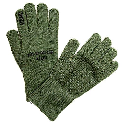 Olive Drab Manzella Official USMC TS-40 Military Gunner Shooting Gloves (Medium) - Marine Corps Shooting