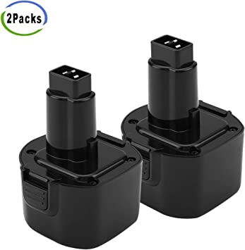 2Pack 3.6Ah Ni-MH for Dewalt 9.6 Volt Battery DW9062 Dw9061 DW926 DC750KA DW955K