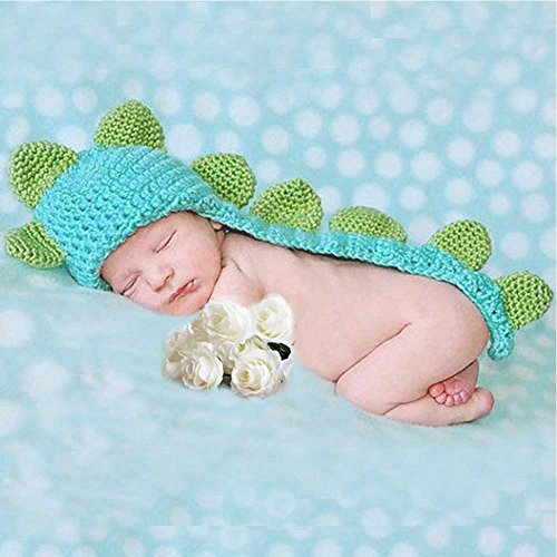 [Feiuruhf Cute Dinosaur Style Infant Newborn Baby Girl Boy Crochet Beanie Hat Clothes Baby Photograph] (12 Month Girl Costume)