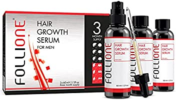 Hair Growth Serum for Men   Dermatologically Tested Hair Loss & Hair Thinning Treatment   Developed as an alternative to Minoxidil   Three month supply