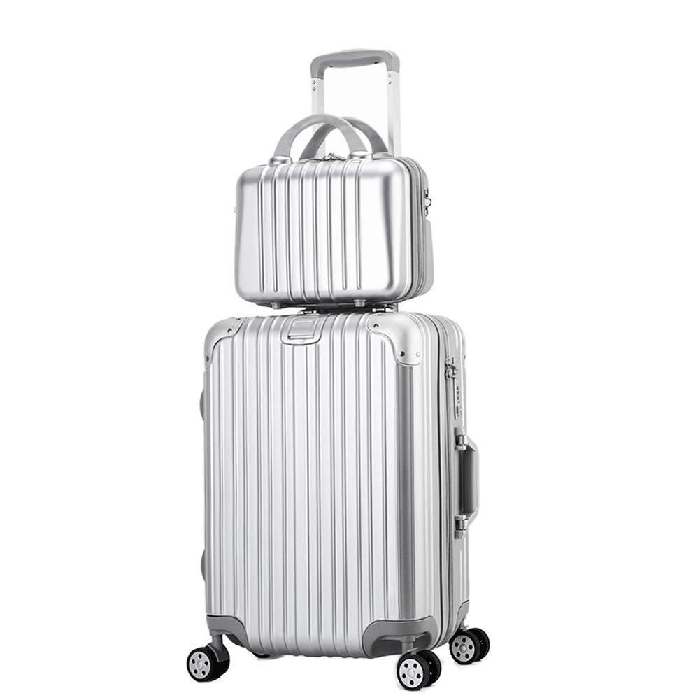 2スーツケースハードシェルスーツケース軽量量子マザーキャビンキャビンスーツケースユニバーサルホイールスーツケース20インチ24インチ26インチ2 B07T49DCW6  M(24in)