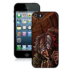 Hot Sale iPhone 5 5S Case ,Unique And Lovely Designed Evil Old Man Cover Case For iPhone 5 5S Black Phone Case CR-164