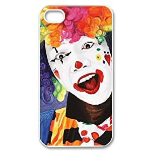 WJHSSB Customized Print Clown Pattern Back Case for iPhone 4/4S