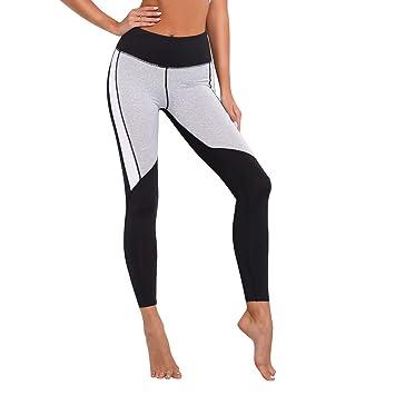 UICICI Pantalones de Yoga en Blanco y Negro cosiendo ...