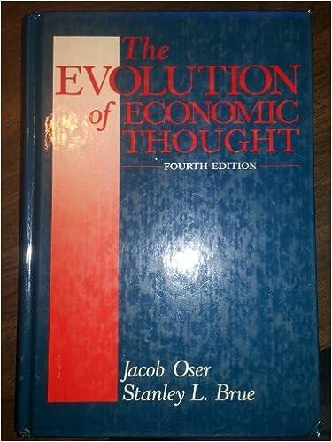 Book The Oser Evolution Econ Thought 4e