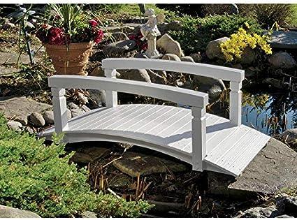 Diseño Toscano Jensen Arco de Madera jardín Puente: Amazon.es: Jardín